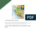 Perú y Sus Atraciones