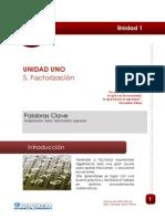 Ejercicios y Factorización