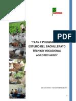 Plan de Estudio de Bachillerato Tecnico Agropecuario