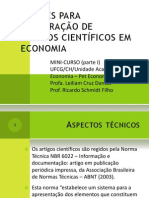 MinicursoElaboraçãodeartigoscientificosemeconomia