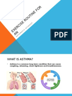 exercise routine for an asthmatic student
