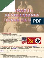11.-  REVOLUCIÓNES RUSAS. LA URSS