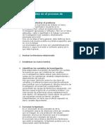 Etapas Principales en El Proceso de Investigación 1