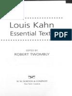 Louis Kahn Essential Texts