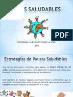 ppt- PAUSAS SALUDABLES
