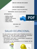 Riesgos Ocupacionales-Salud y Seguridad Ocupacional