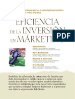 La Eficiencia de La Inversión en Marketing