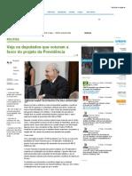 Veja Os Deputados Que Votaram a Favor Do Projeto Da Previdência - Paraná-Online - Paranaense Como Você