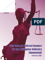 New Code of Judicial Conduct for the Philippine Judiciary (Bangalore Draft)
