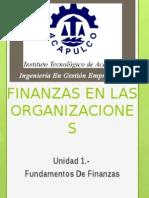Finanzas en las Organizaciones U1