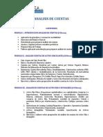 Análisis de cuentas contables temario