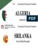 Eco Fin Algeria Srilanka