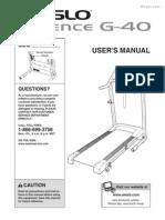 Weslo WLTL29606 Manual