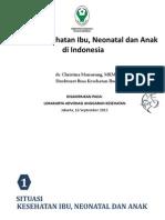 Masalah Kesehatan Ibu, Neonatal Dan Anak Di Indonesia - KEMENKES