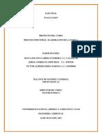 Descripcion Del Proceso y Memorias de Calculo produccion de la panela balance de materia y energia