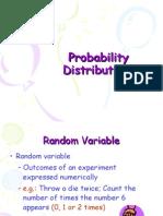 Probability Dist Random Variables