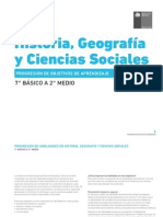 Progresion de OA 7° a 2° - Historia, Geografía y Ciencias Sociales
