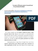 8 Apps gratis para iPhone para incentivar tu productividad