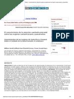 Revista Panamericana de Salud Pública - Conocimiento de La Atención Sanitaria Prenatal Entre Las Mujeres Costarricenses y Panameños