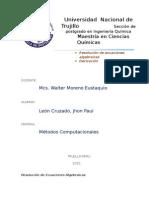 Trabajo Métodos Computacionales - Cap.11.3 & 11.4 Amos Gilat