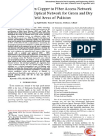 Migration from Copper to Fiber Access Network using Passive Optical Network for Green and Dry Field Areas of Pakistan