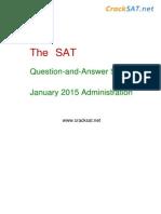 January 2015 Original SAT I Test