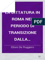 La dictadura en Roma