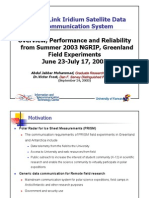 Iridium Multiplexing and Inverse Multiplexing KU-NSF-Iridium-Experience-latest