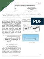 Design & Analysis of Clamped Free MEMS Resonator