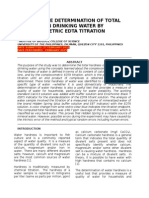 Quantitative determination of Total Hardness of Water