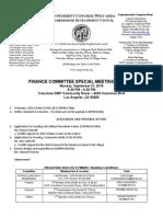 ECWANDC Finance Committee Special Meeting Agenda - September 21, 2015