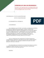 13 - D.S. Nº 006-1999-PROMUDEH