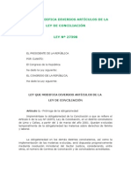04 - LEY 27398, Que Modifica Ley Conciliación Nº 26872