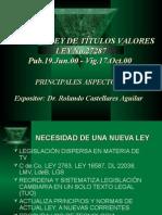 02 LEY TITULOS VALORES - Rolando Castellares Aguilar