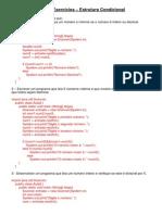 Lista de Exerccios Estrutura Condicional LPE Respostas
