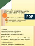 Métodos y Su Metodologia de La Ciencia Económica (Diapositivas)