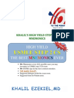KHALIL High Yeild Step 2 CS Mnemonic-2nd Ed