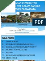 Kebijakan Pemerintah Provinsi Ntt Dalam Rangka Promosi Pariwisata