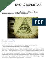Los Dioses Del Dinero y Su Proyecto Del Nuevo Orden Mundial - El Juego Final Ha Comenzado