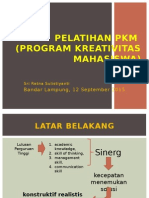 Pelatihan Penulisan Proposal Program Kreativitas Mahasiswa