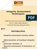 Integrity Assessment of Concrete Structures