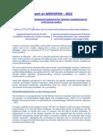 Report on Adhyapan 2012 - 20092012