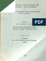 Descriptive Catalog of Sanskrit Manuscripts in Sri Ranbir Sanskrit Research Insitute Jammu Volume II - M.M. Patkar.pdf_Part1