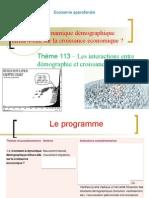 Thème 113 – Les interactions entre démographie et croissance économique.ppt