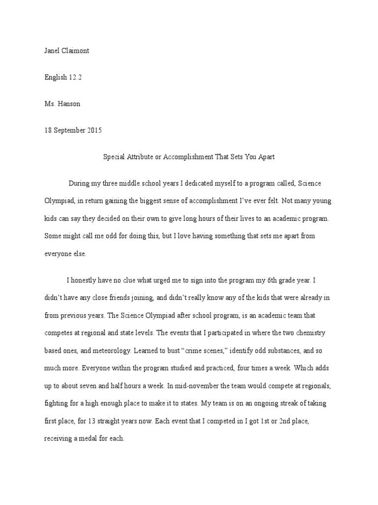 Writing an english essay