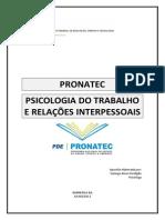 1 - Apostila Psicologia Do Trabalho e Relações Interpessoais - PRONATEC