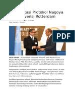 RI Ratifikasi Protokol Nagoya Dan Konvensi Rotterdam