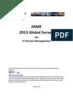 ItSMF 2013 Survey Report