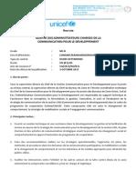 UNICEF Recrute 4 Administrateurs Chargés de La Communication
