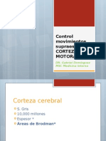 CLASE Control Movimientos Supraespinales CORTEZA MOTORA
